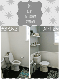 Simple DIY Bathroom Remodel - With Our Best - Denver ...