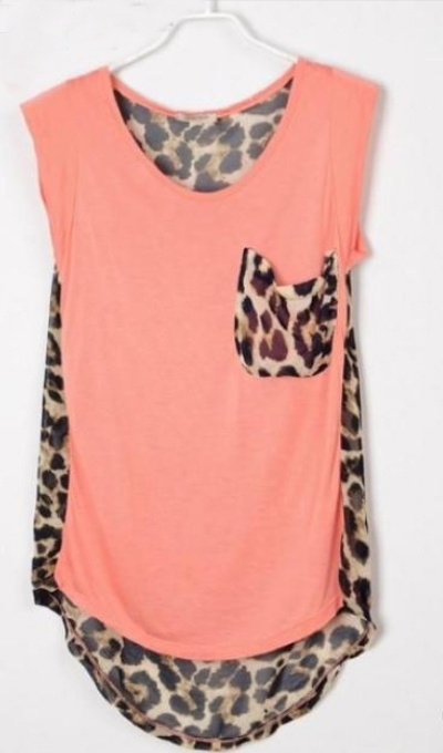 leopard print design top