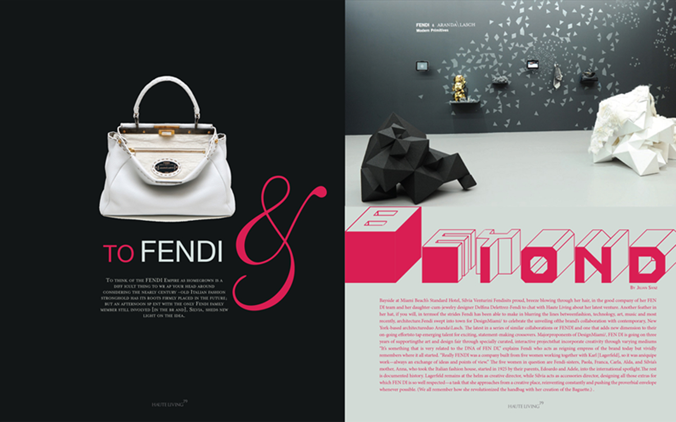 Fendi Page from Magazine