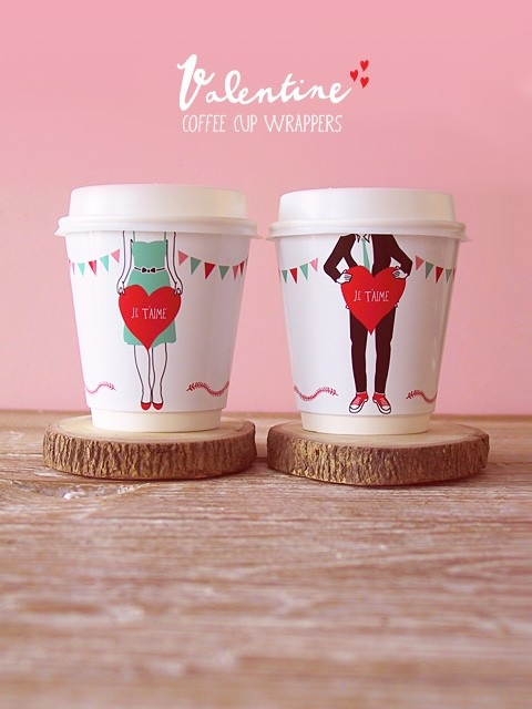 valentine coffee cup