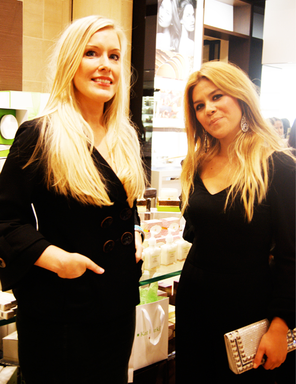 Me and Kat at Burkis Beauty Line launch