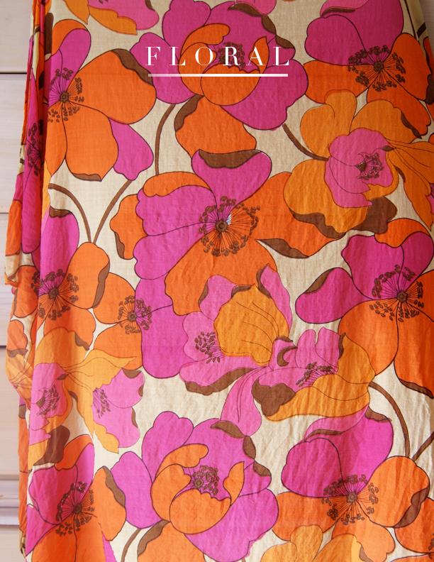 floral summer scarves