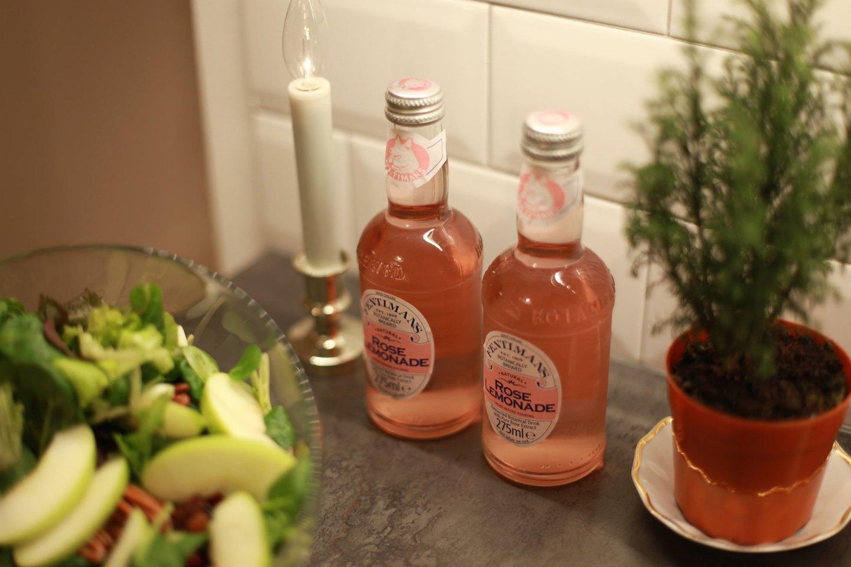 Rose Lemonade for Brunch