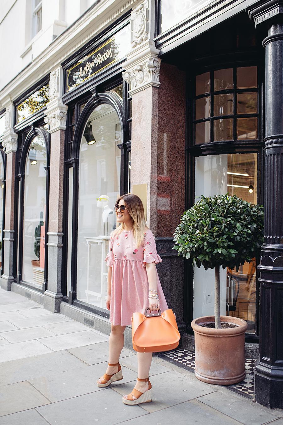 thirty of my no no's. Beautiful pink dress