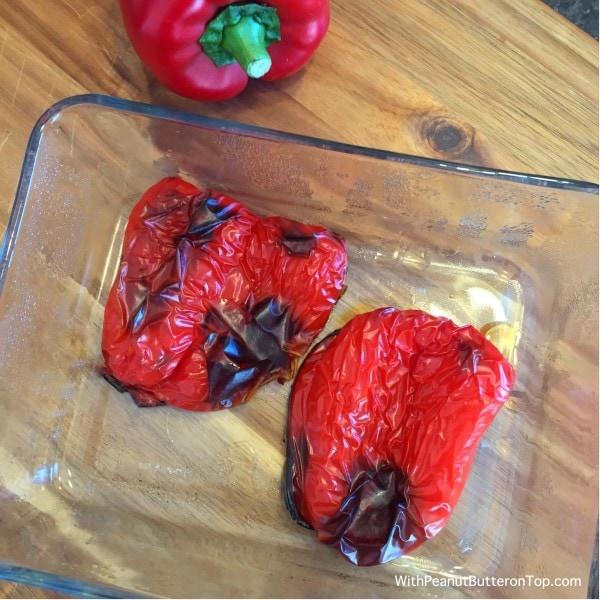 Roasted Red Bell Peppers | www.withpeanutbutterontop.com