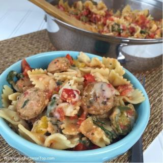 Cheesy Chicken Sausage Pasta