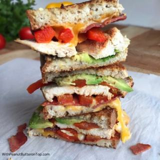 Chicken Bacon and Avocado Grilled Cheese