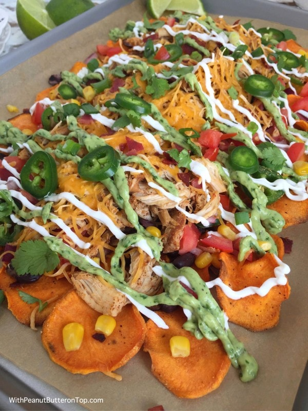 Loaded Sweet Potato Nachos with Homemade Sweet Potato Chips