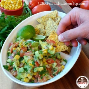 Avocado Corn Salsa - a wonderful blend of chopped avocado, corn, and cilantro - with a hint of lime! Perfect crowd-pleasing appetizer!