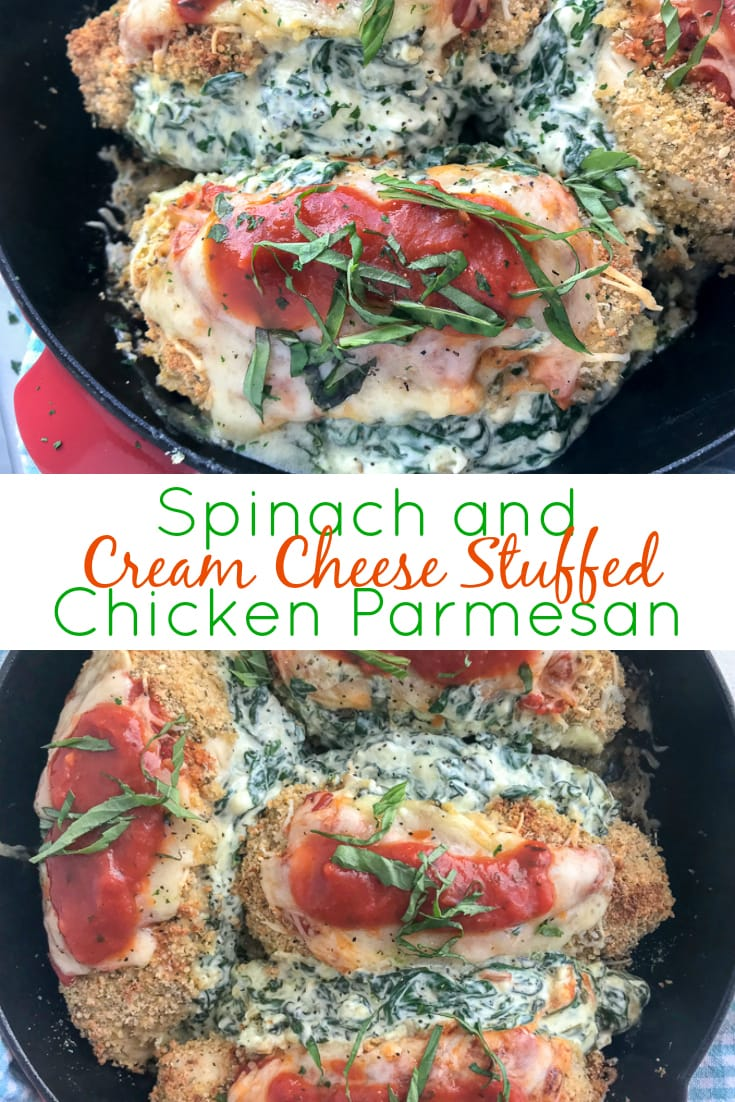 Spinach and Cream Cheese Stuffed Chicken | www.withpeanutbutterontop.com
