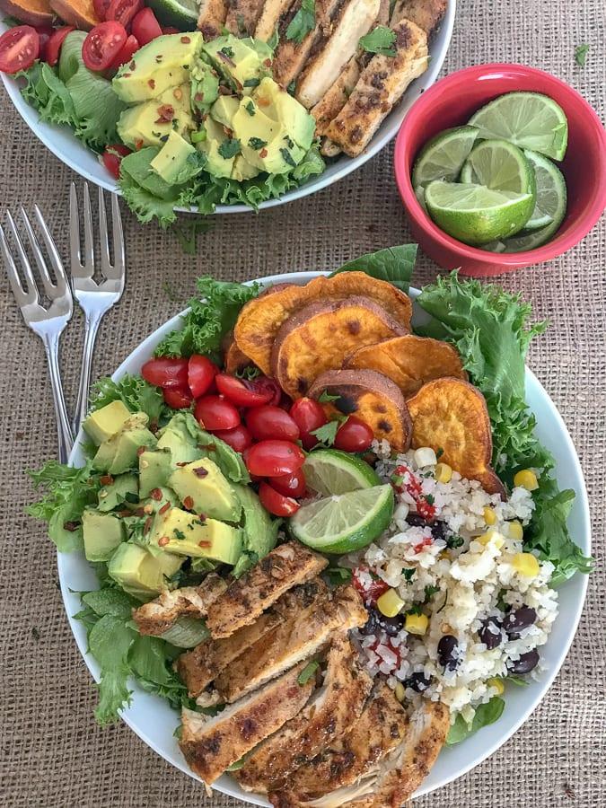 Jamaican Jerk Chicken Bowls   https://withpeanutbutterontop.com
