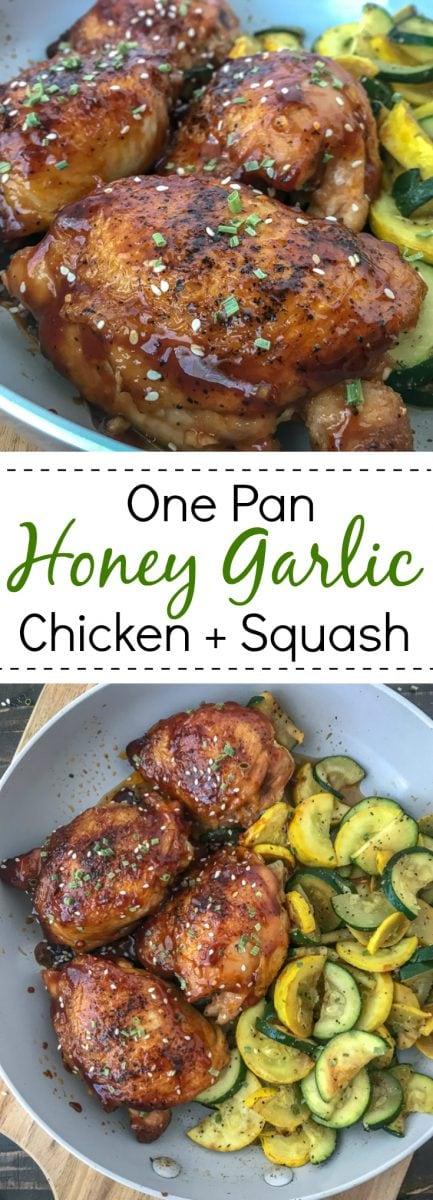 Honey Lime Garlic Chicken Thighs - easy, quick and bursting with flavor! #healthy #chickenthighs #honeylimegarlic #honey #garlic #onepan   https://withpeanutbutterontop.com