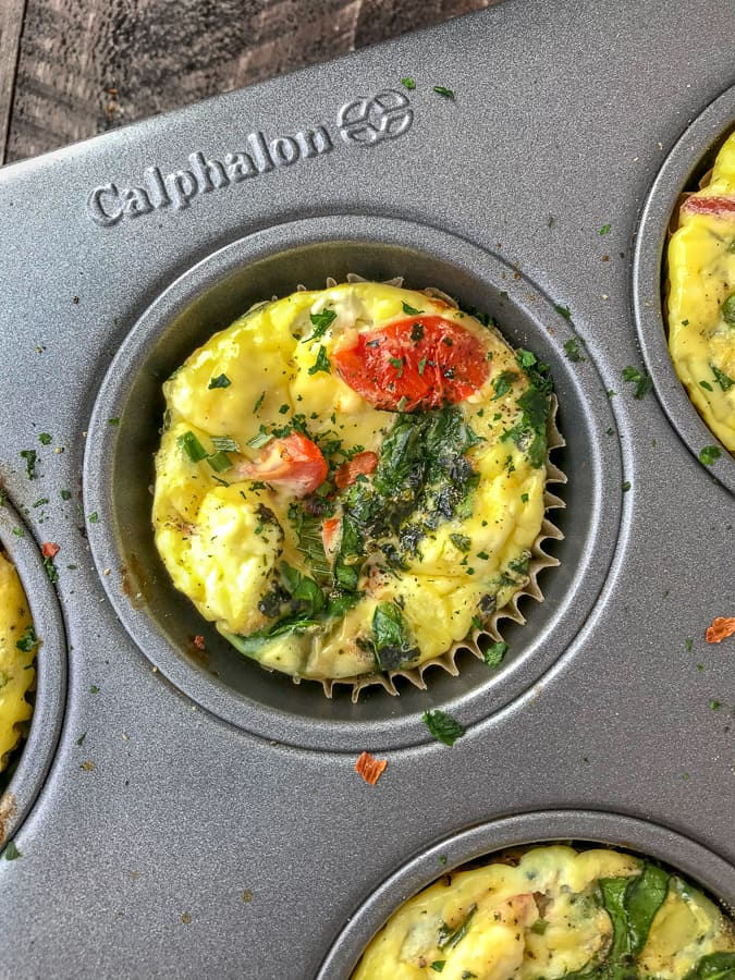 Make Ahead Egg Muffins - Done 3 Ways!! Perfect, quick and simple recipe for meal prepping, as a post-workout meal, or for busy lifestyles! High in protein, low in carbs - making these Keto-friendly! #eggmuffins #mealprep #breakfastmealprep #breakfast #easyrecipes | https://withpeanutbutterontop.com