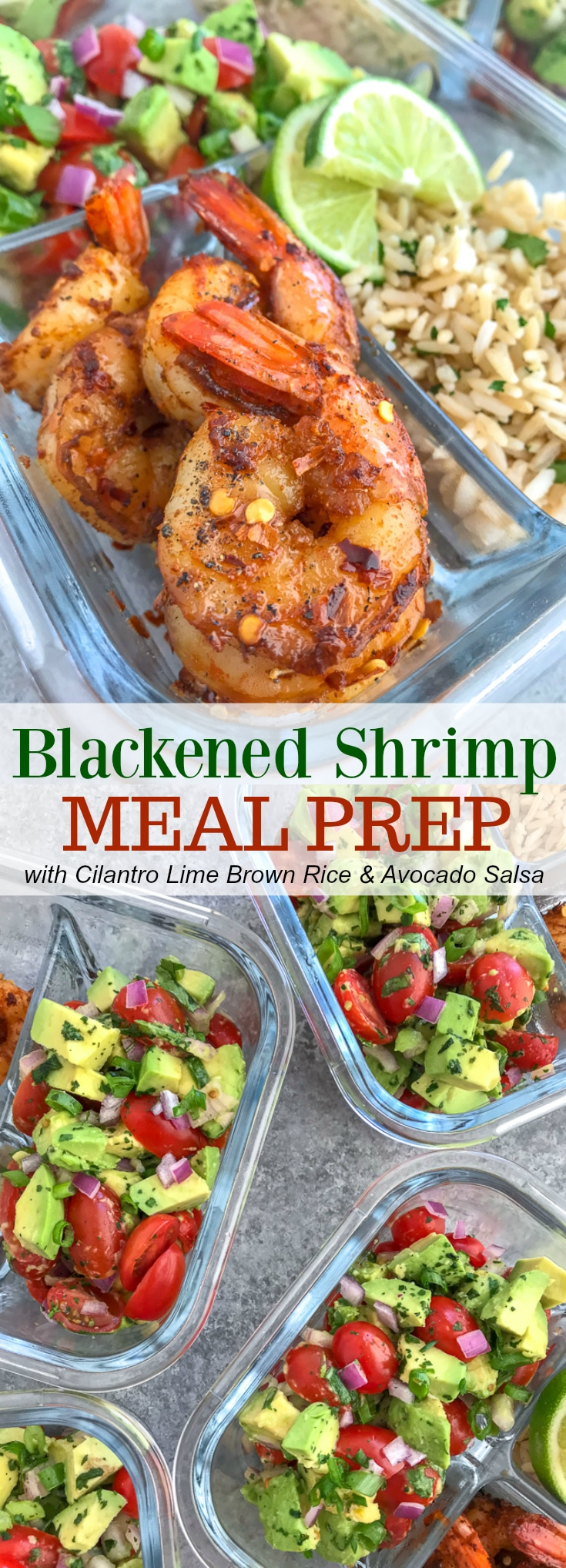 Blackened Shrimp Meal Prep With Peanut Butter On Top