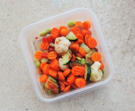 Healthy work veggies