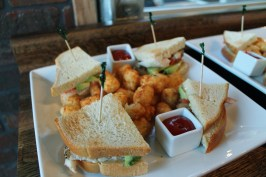 Chicken Avocado Club and Tater Tots