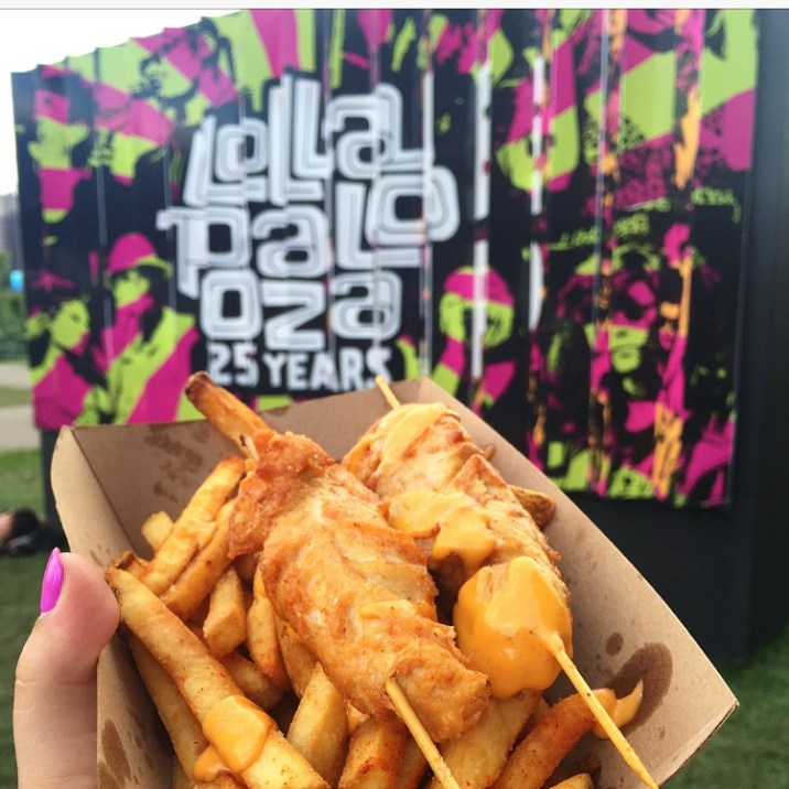 Sriracha chicken and fries- Tank Noodle lollapalooza