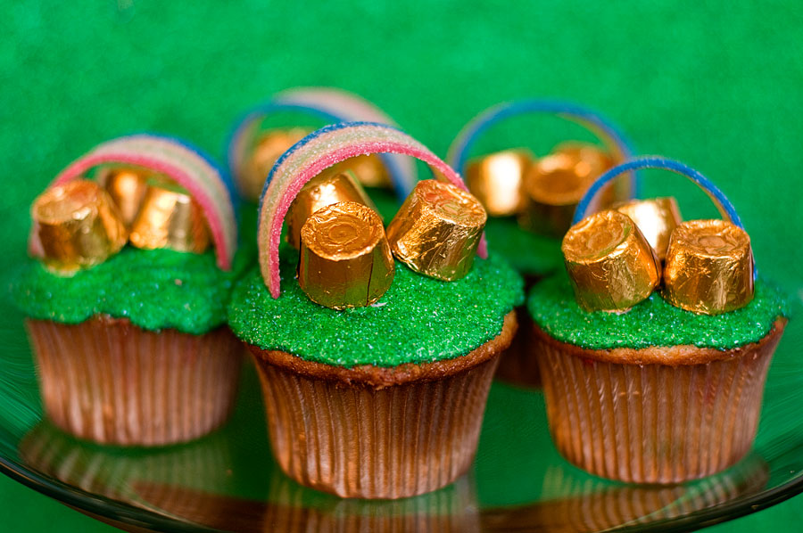 Pot o Gold Cupcakes  With Sprinkles on Top