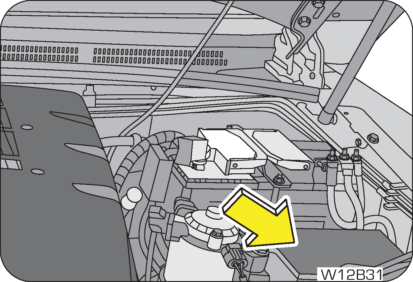 hight resolution of the engine compartment fuse box is located adjacent to vehicle battery follow the below stpng to remove the fuse cover