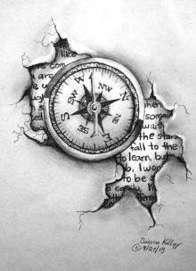 Compass and journal
