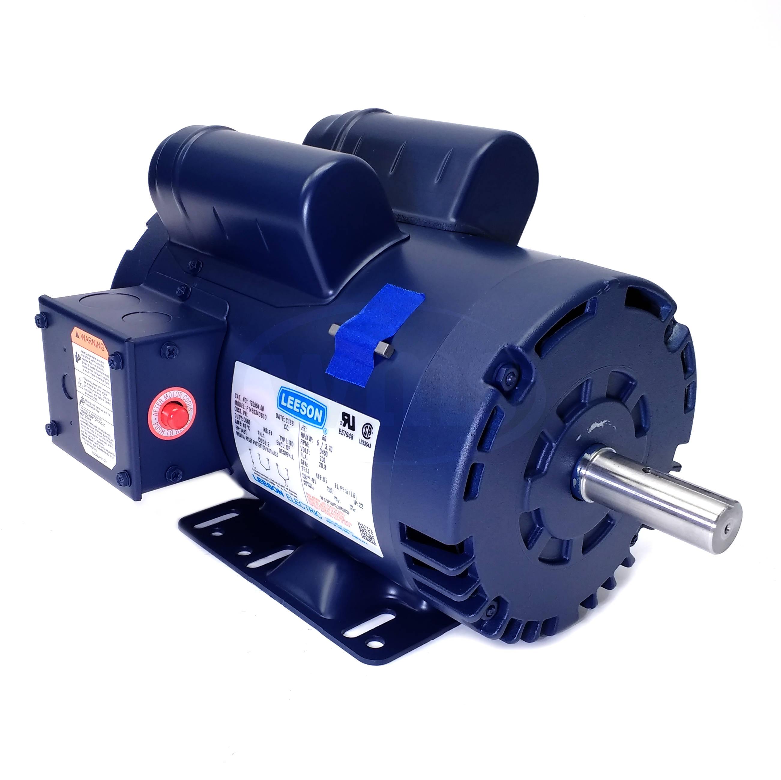120554 00 leeson 5hp electric motor electric motors leeson motor wiring help [ 2602 x 2601 Pixel ]