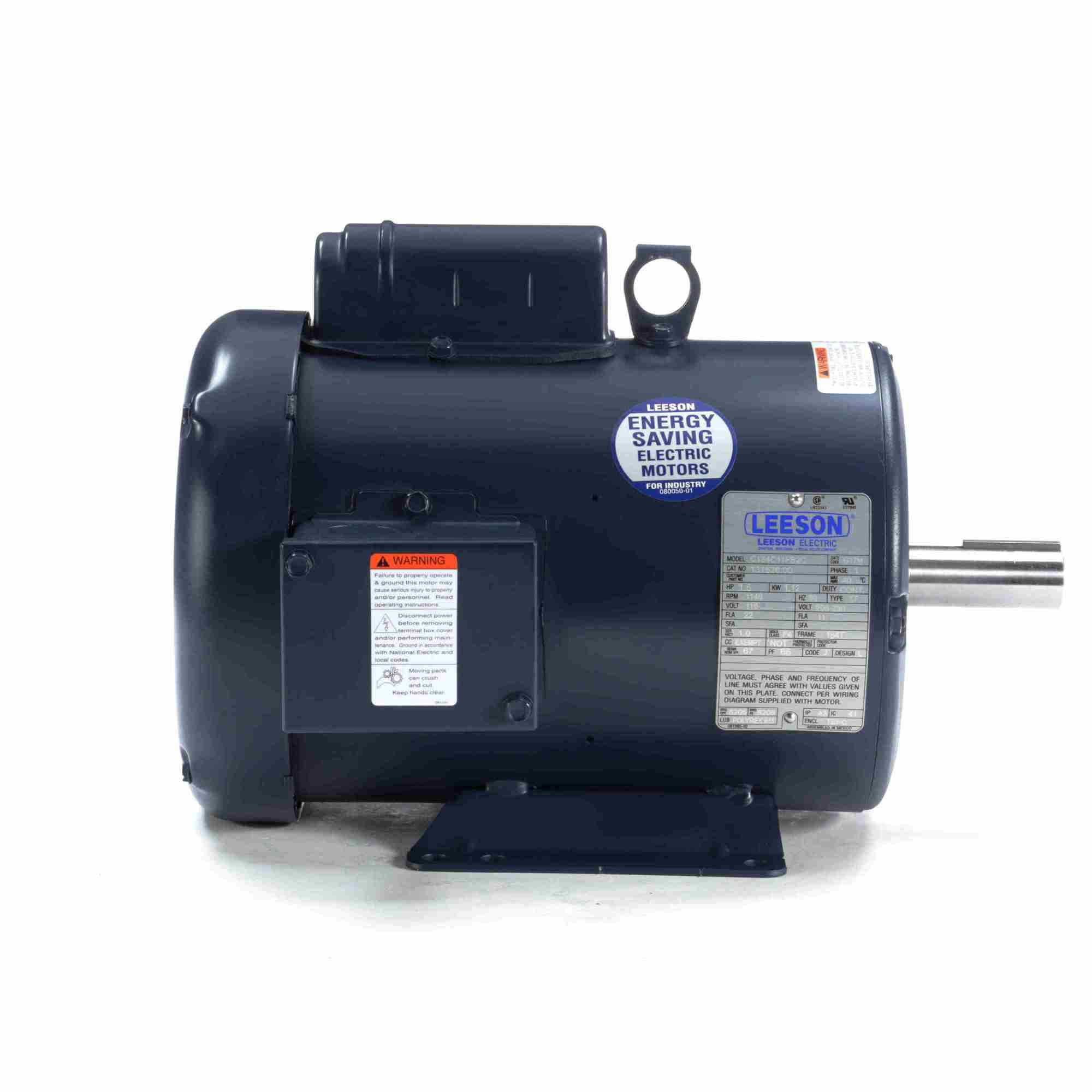 hight resolution of 131526 00 leeson 1 5hp electric motor 1200rpm 1
