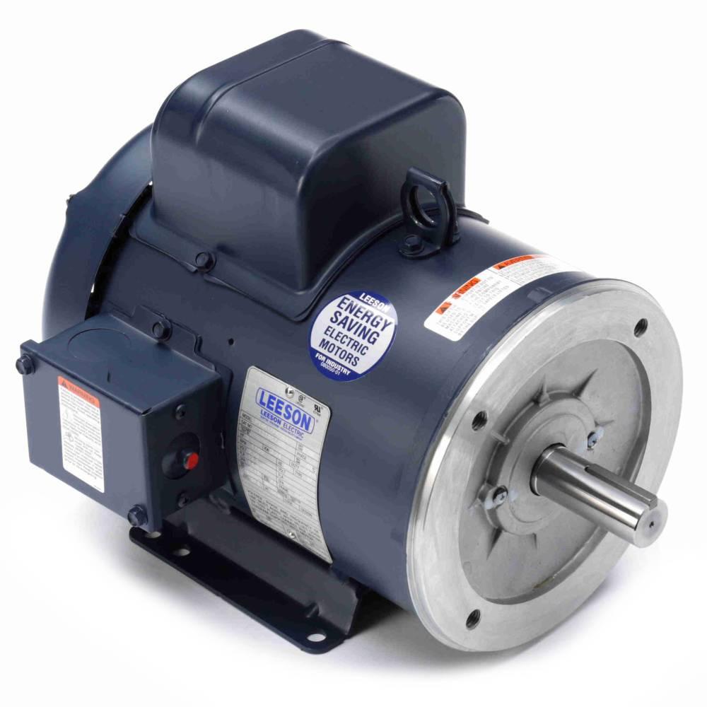 medium resolution of 131857 00 leeson 3hp electric motor 1800rpm 1