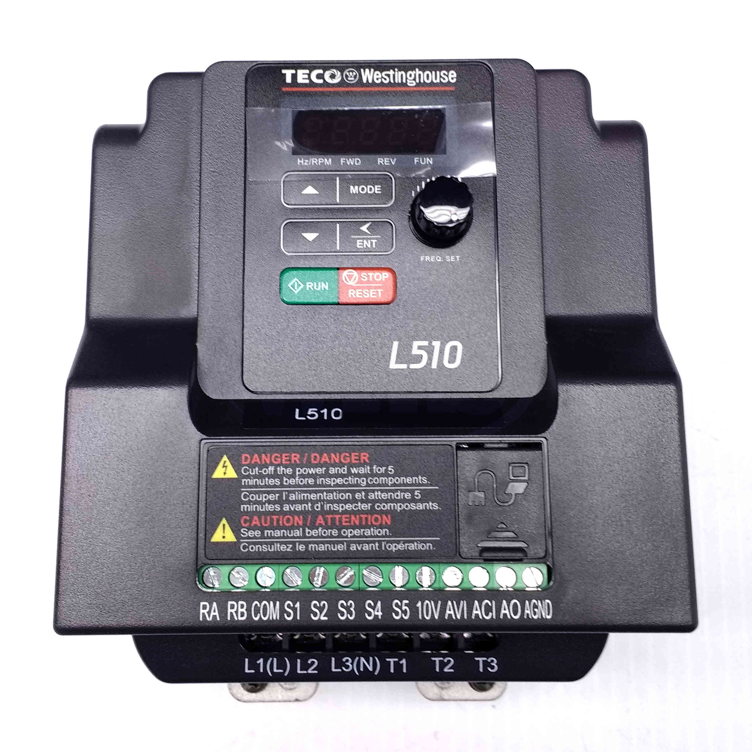 L510203H1U 3 HP TecoWestinghouse Variable Frequency