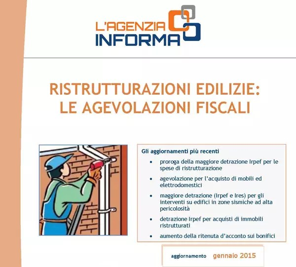 Nuova guida ristrutturazioni edilizie 2015 for Guida ristrutturazioni