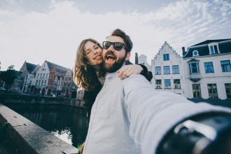 couple in love takes selfie shutterstock_577112314_web