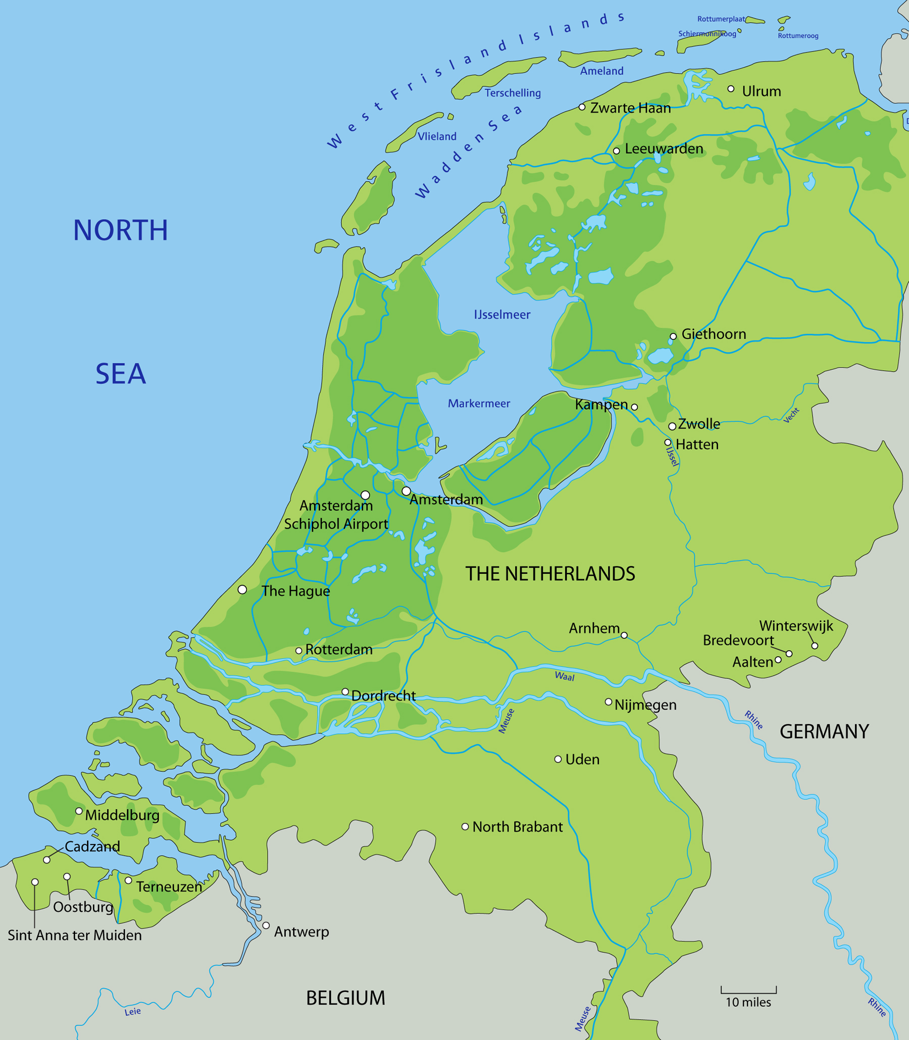 Map of the Netherlands</div>