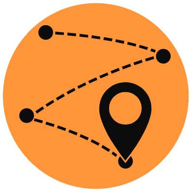 Itinerary Path Icon