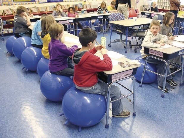 ball chairs for students cream and black dining q c swap exercise balls wittfitt learning news