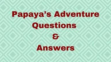 Papaya's Adventure Questions & Answers
