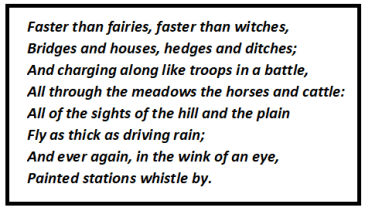 From a Railway Carriage Stanza Wise Summary