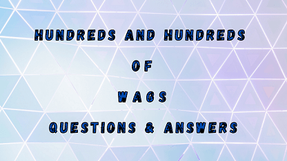Hundreds And Hundreds Of Wags Questions & Answers