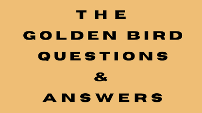 The Golden Bird Questions & Answers
