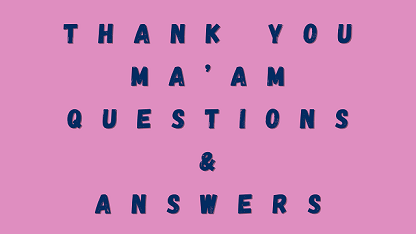 Thank You Ma'am Questions & Answers