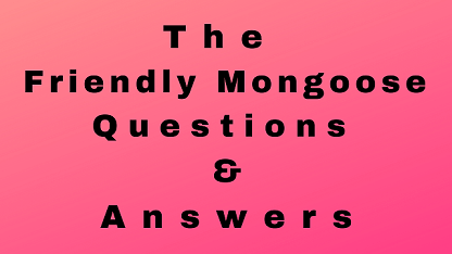 The Friendly Mongoose Questions & Answers