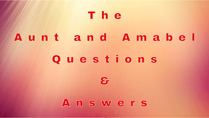 The Aunt and Amabel Questions & Answers