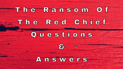 The Ransom Of The Red Chief Questions & Answers