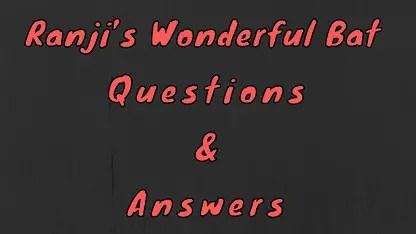 Ranji's Wonderful Bat Questions & Answers