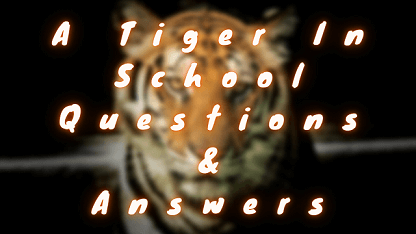A Tiger in School Questions & Answers
