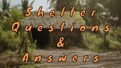 Shelter Questions & Answers