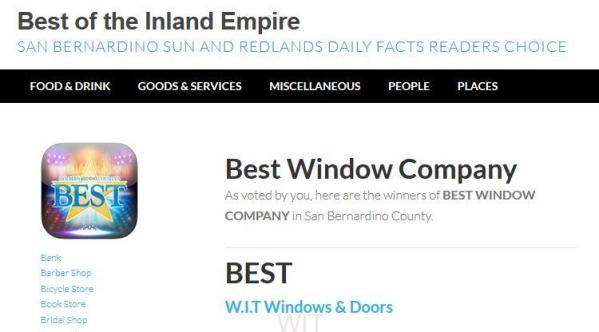 best window company inland empire