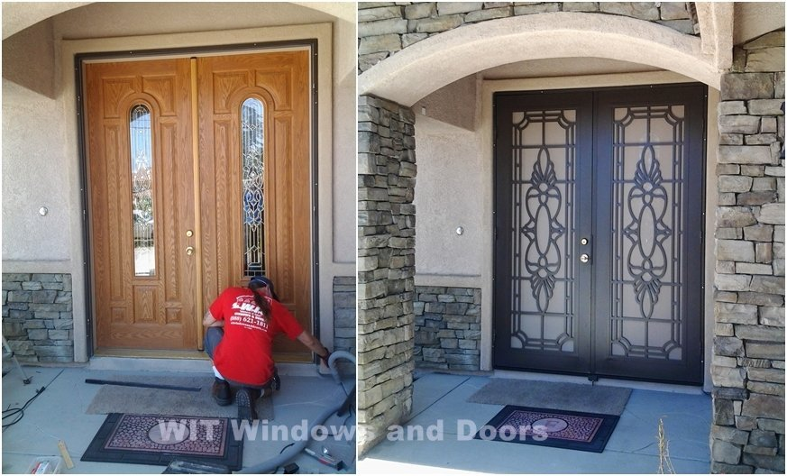 DOUBLE SECURITY DOORS