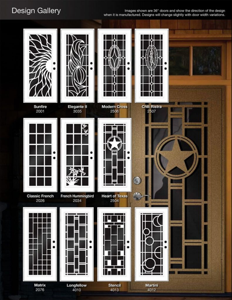 UNIQUE HOME DESIGN SECURITY SCREEN DOOR