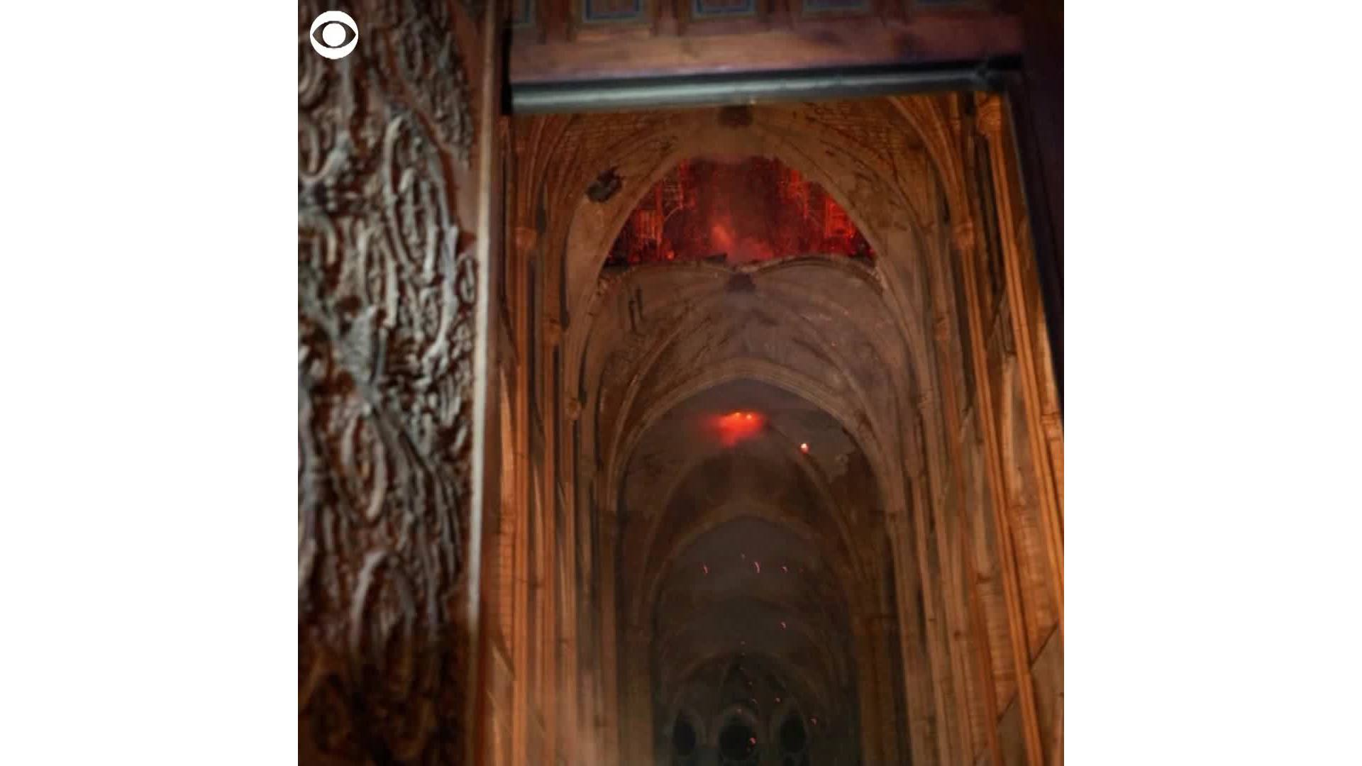 Images from inside the Notre Dame Cathedral
