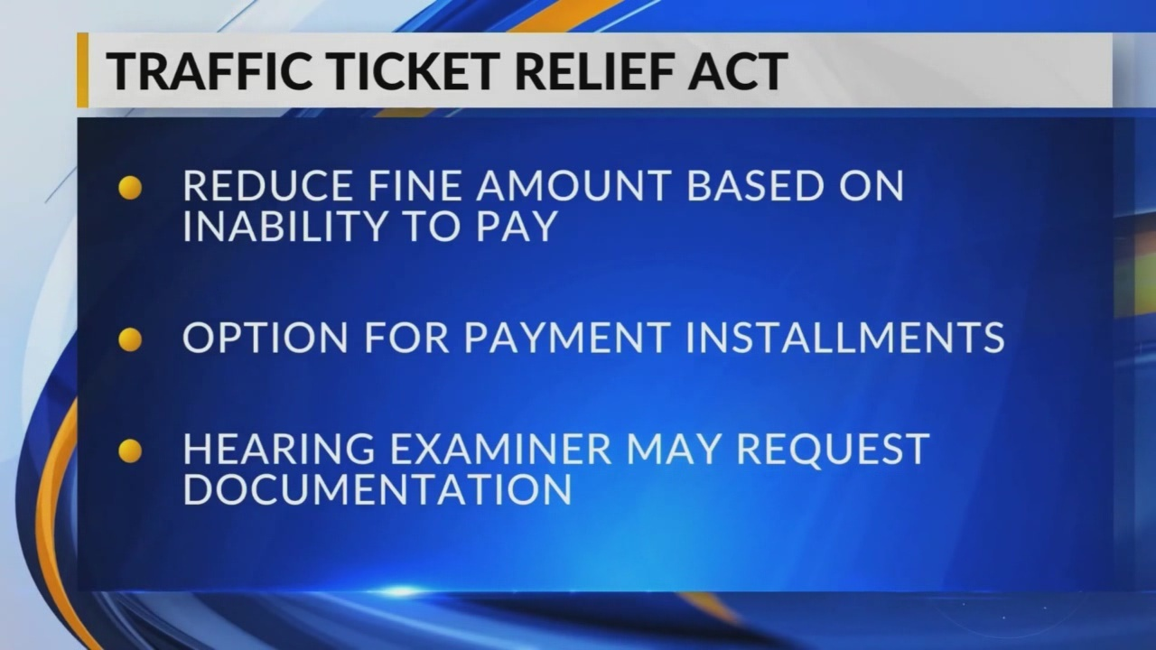 Traffic Ticket Relief Act