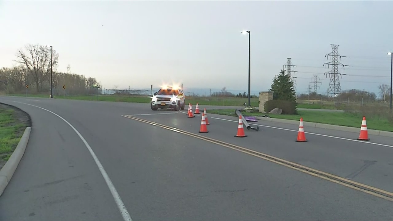 Motorcycle crash on Niagara University campus